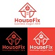 House Fix Home Fixing Logo Design Template