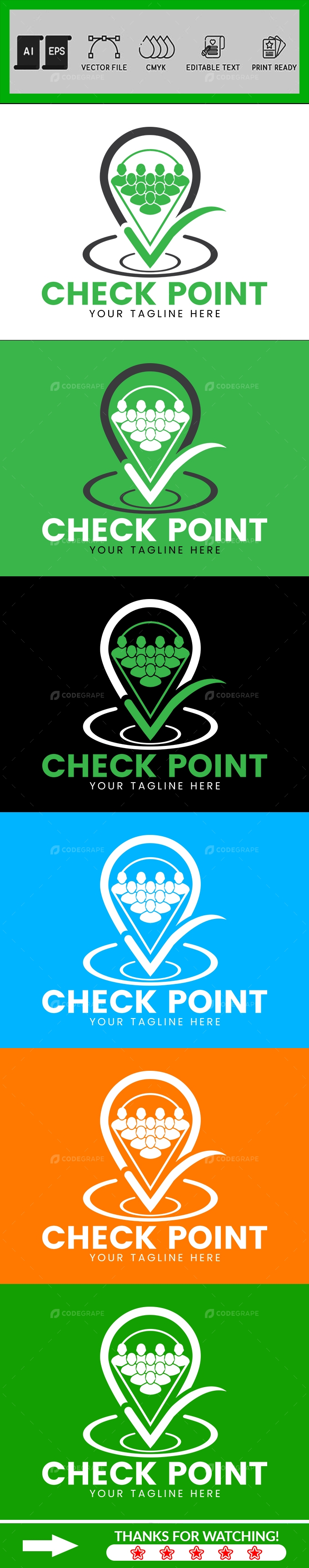 Human Check Logo Design Template