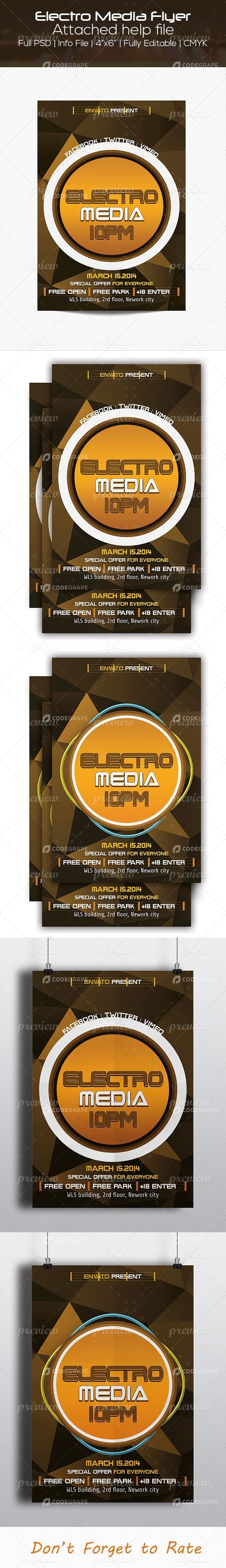 Electro Media Flyer