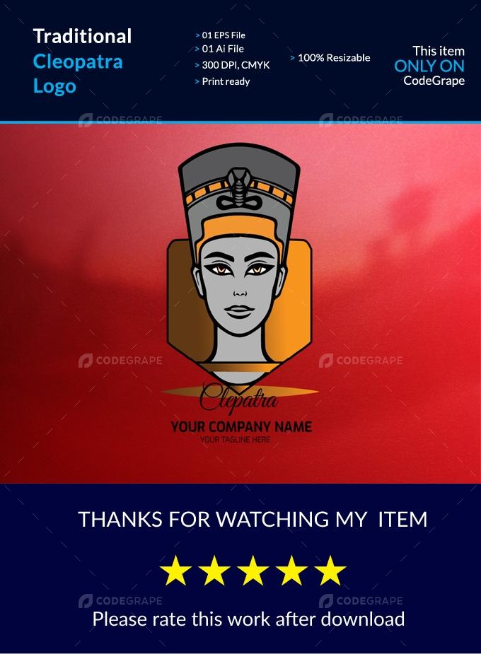Traditional Cleopatra Logo
