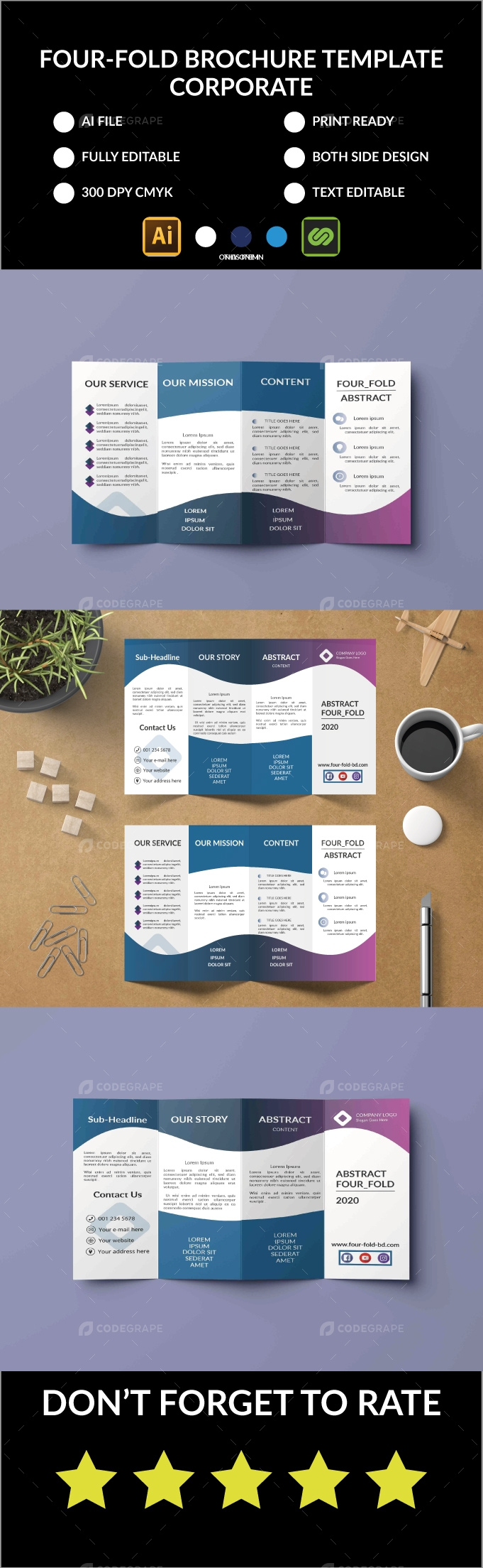 Corporate Four-Fold Brochure
