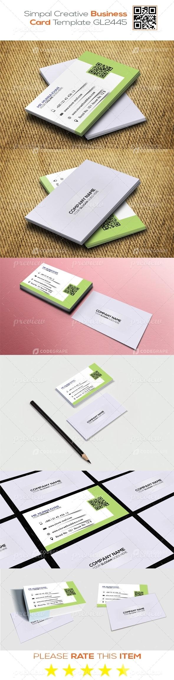 Modern Creative Business Card Template GL2445