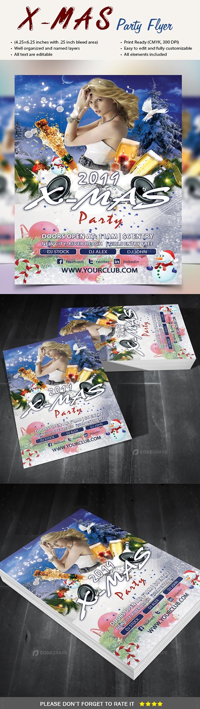 X Mas Party Flyer