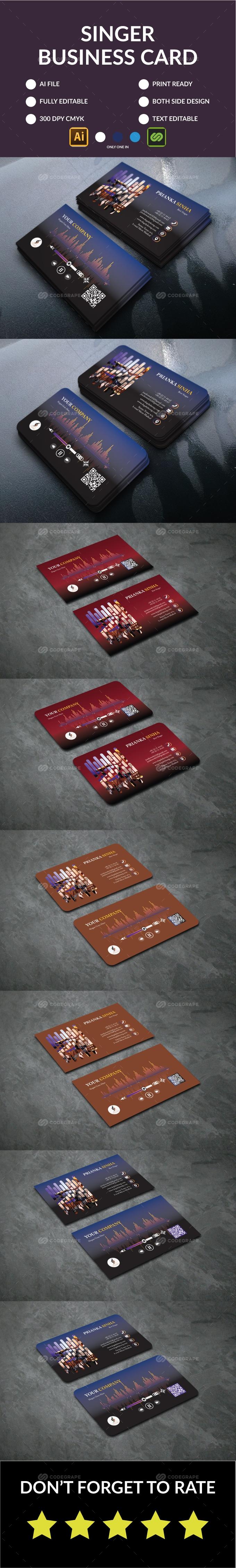 Singer Business Card