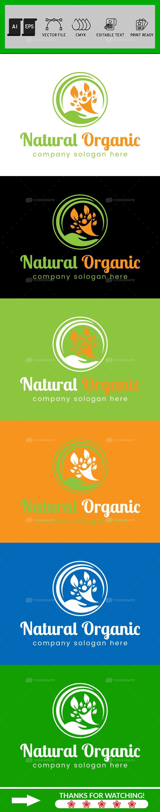 Natural Organic Logo Design Template
