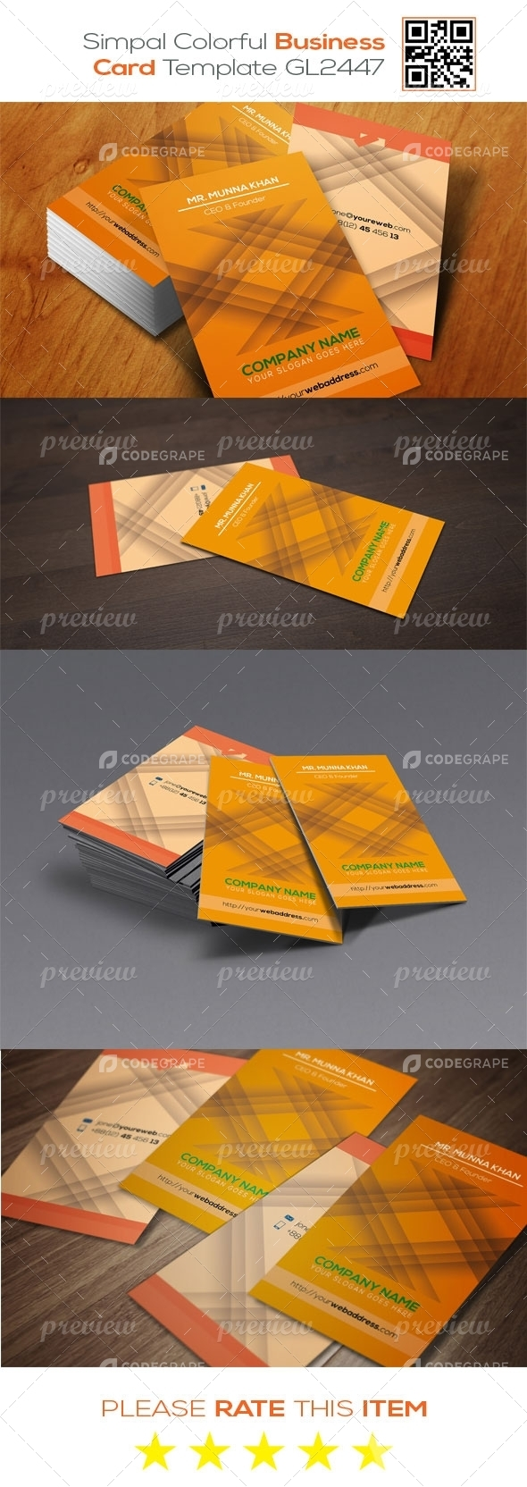 Simpal Colorful Business Card Template GL2447