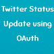 Twitter Status Update Using OAuth