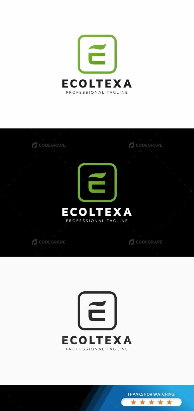 Ecoltexa E Letter Logo