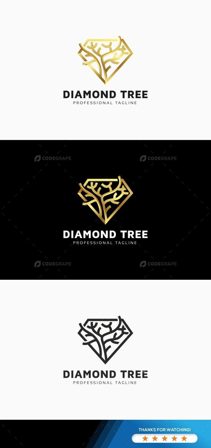 Forest Diamond Tree Logo