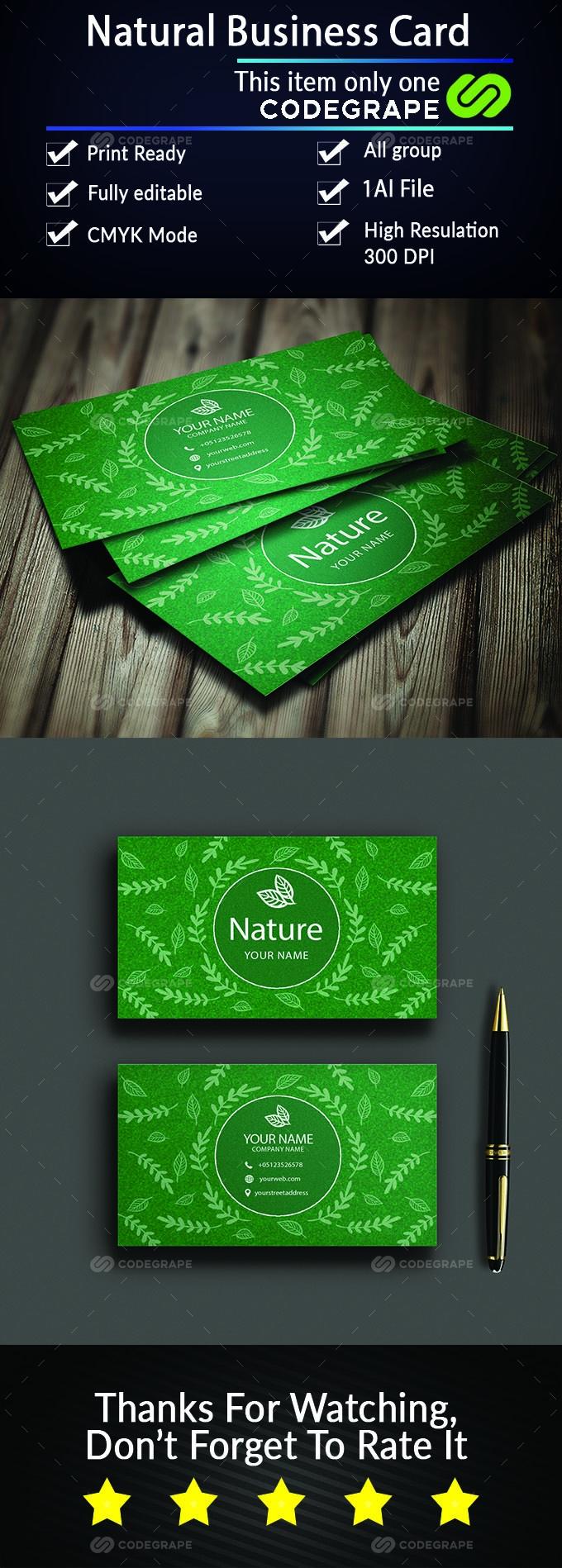Natural Business Card