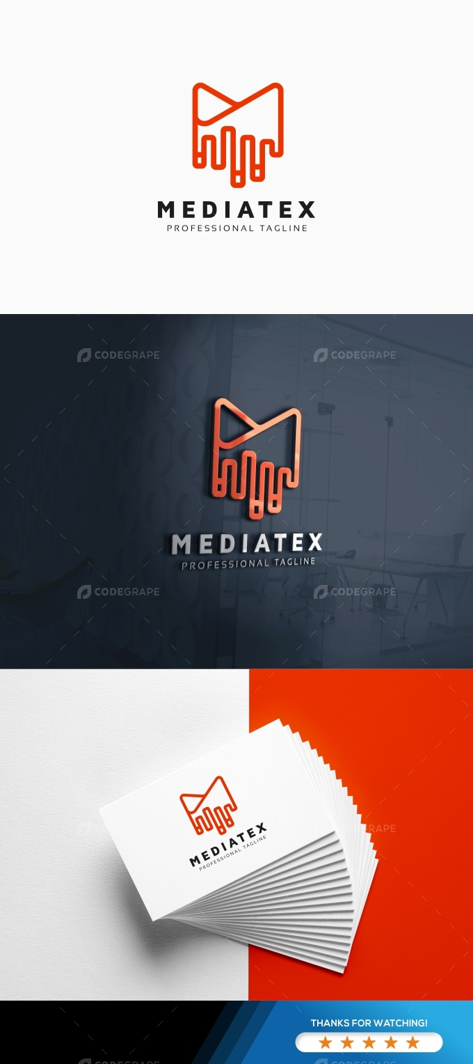 Mediatex M Letter Logo