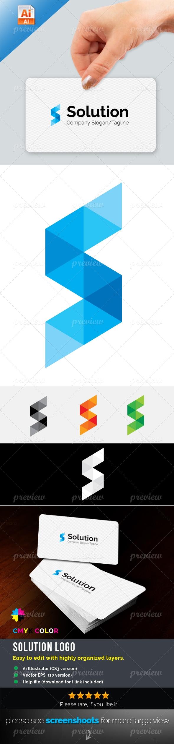 S Letter Solution Logo