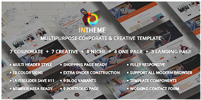 Intheme - MultiPurpose Corporate And Creative Bootstrap Template