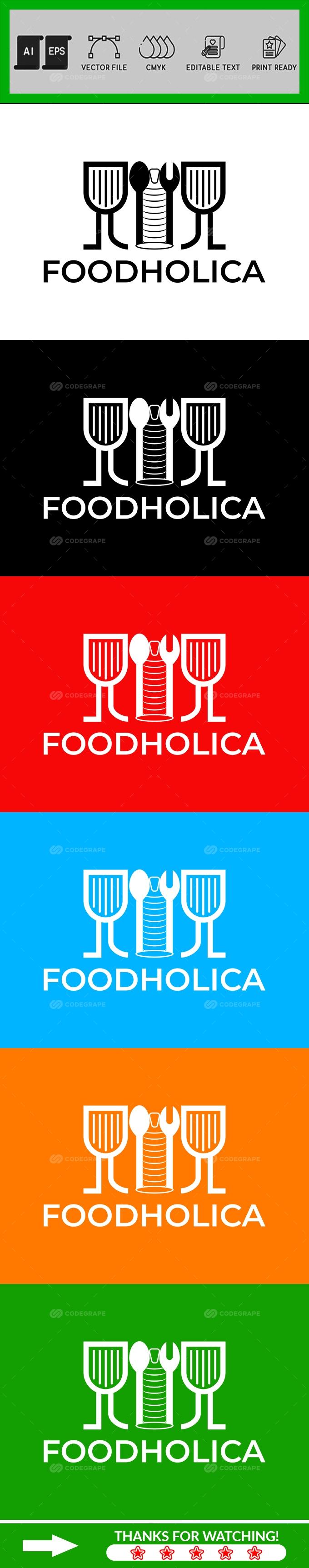 Minimalist Restaurant Logo Design Template