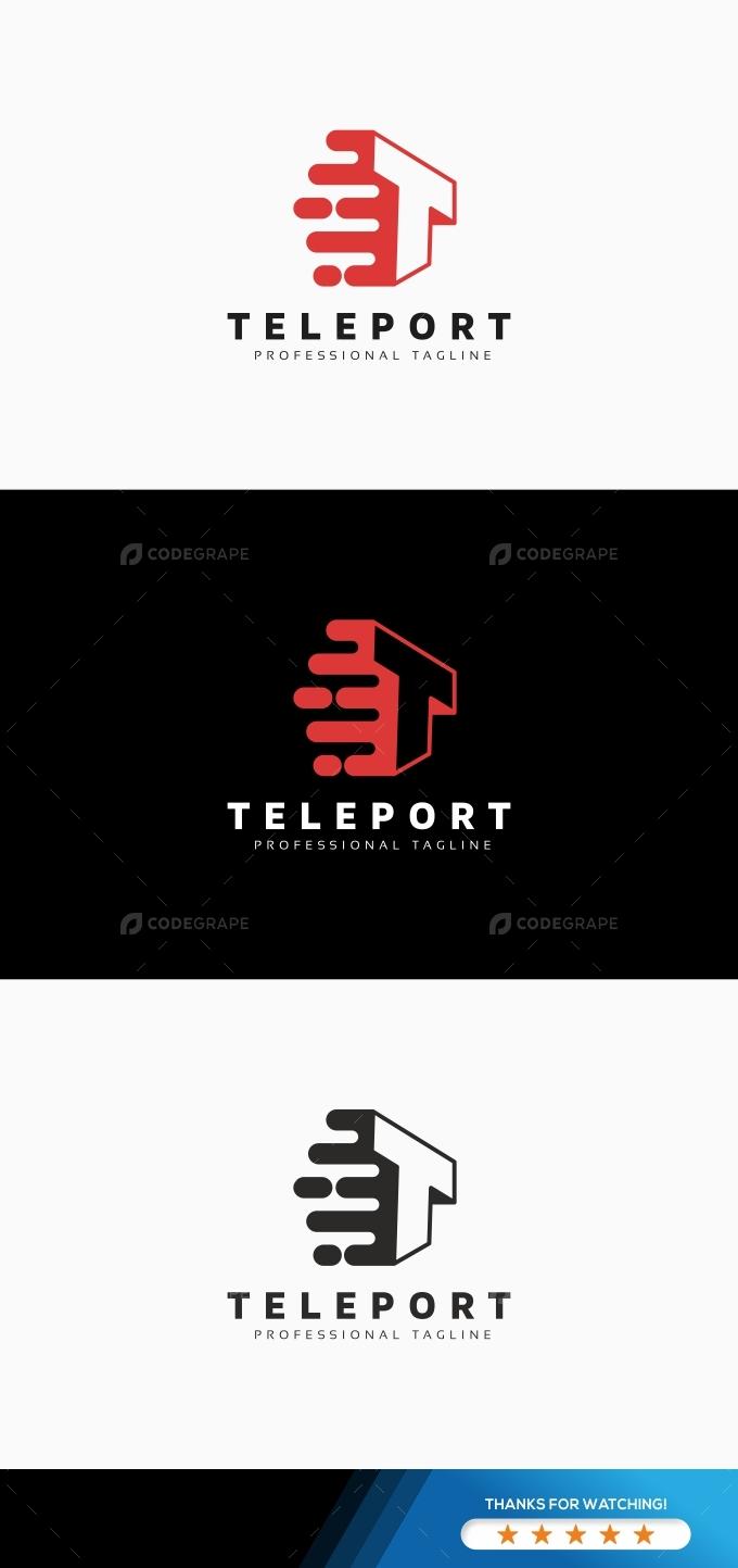 Teleport T Letter Logo