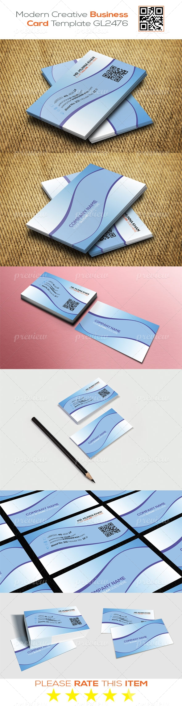 Modern Creative Business Card Template GL2476