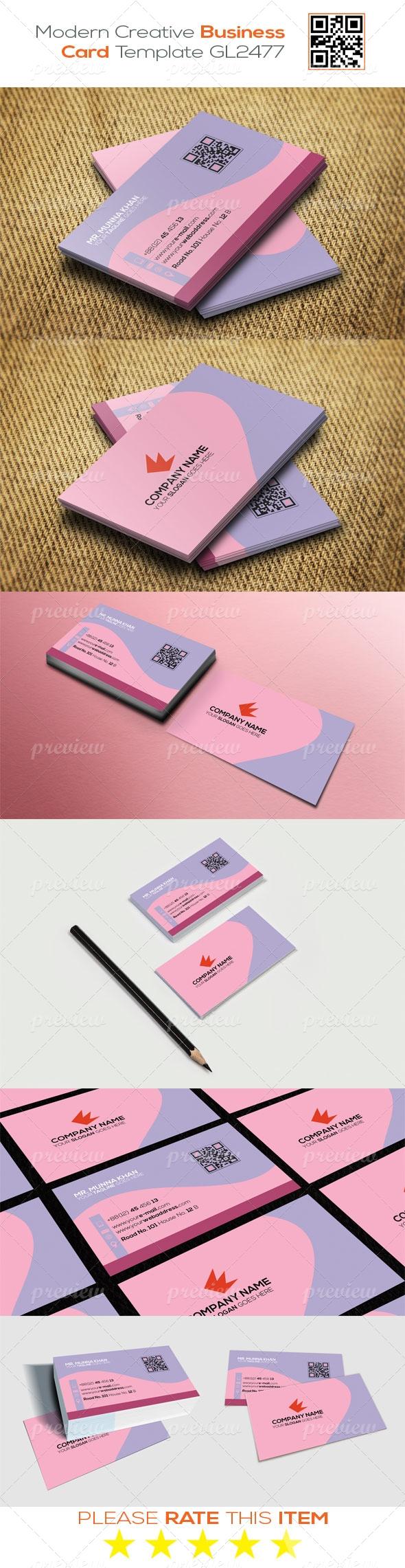 Modern Creative Business Card Template GL2477