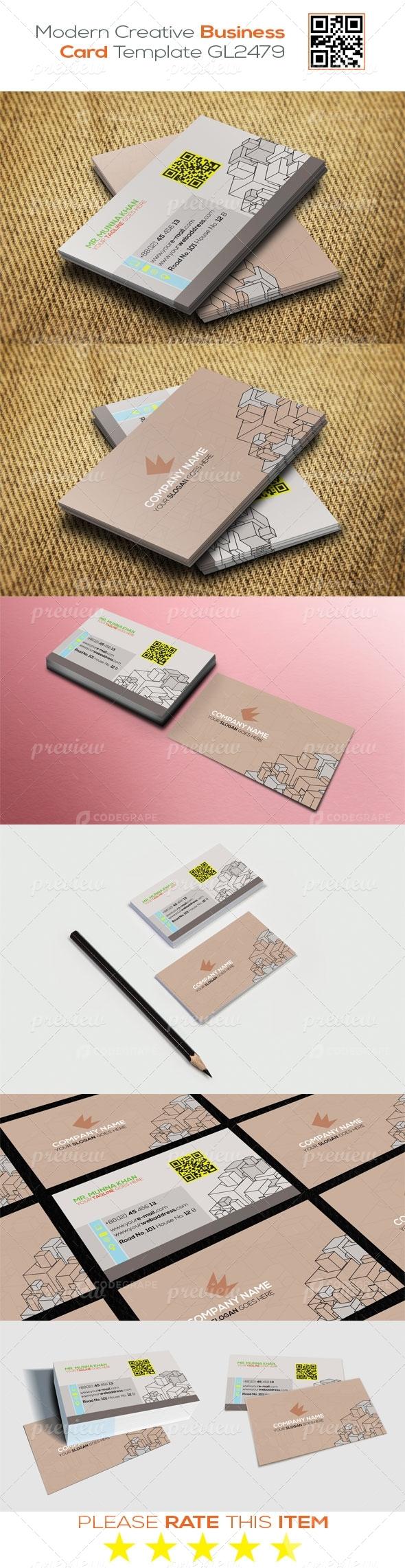 Modern Creative Business Card Template GL2479