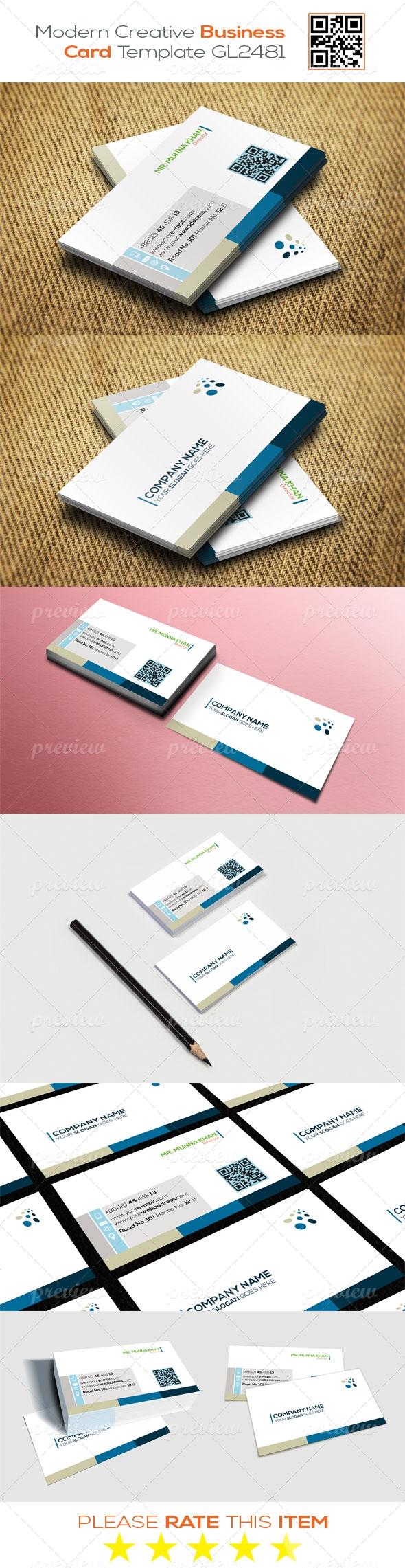 Modern Creative Business Card Template GL2481