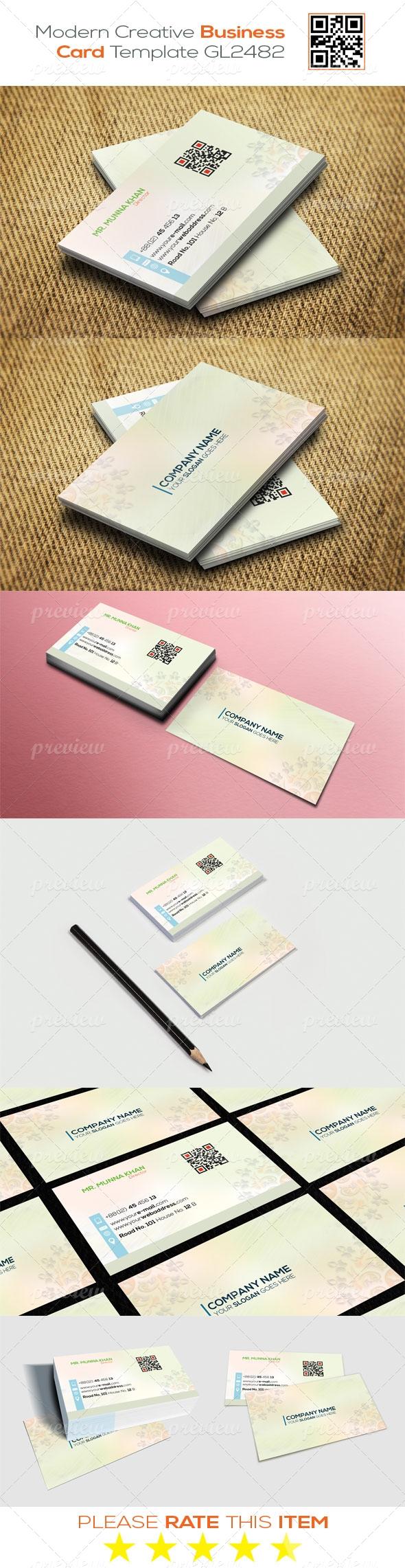 Modern Creative Business Card Template GL2482
