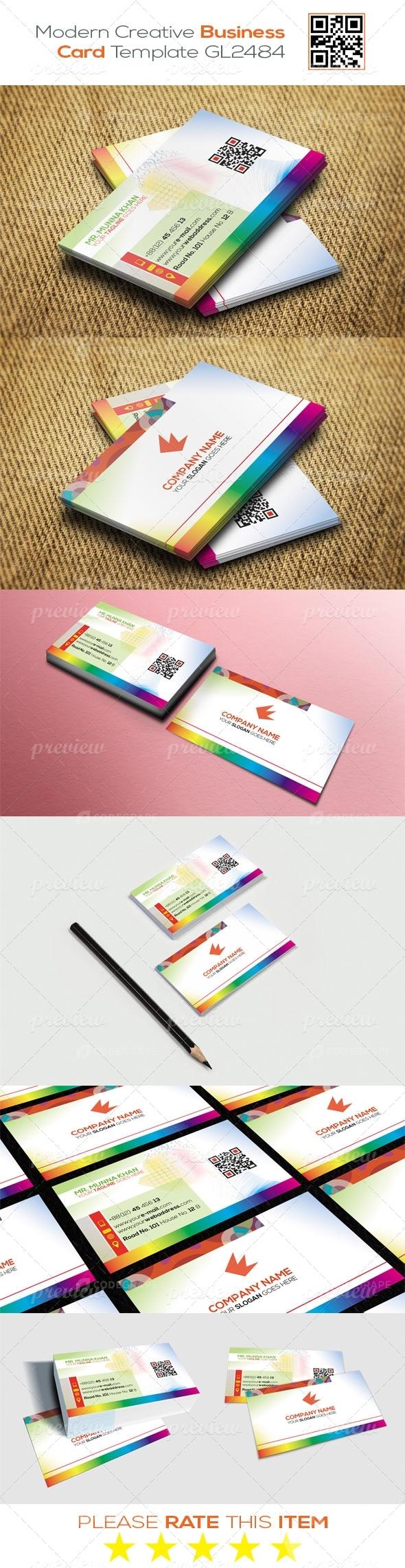 Modern Creative Business Card Template GL2484