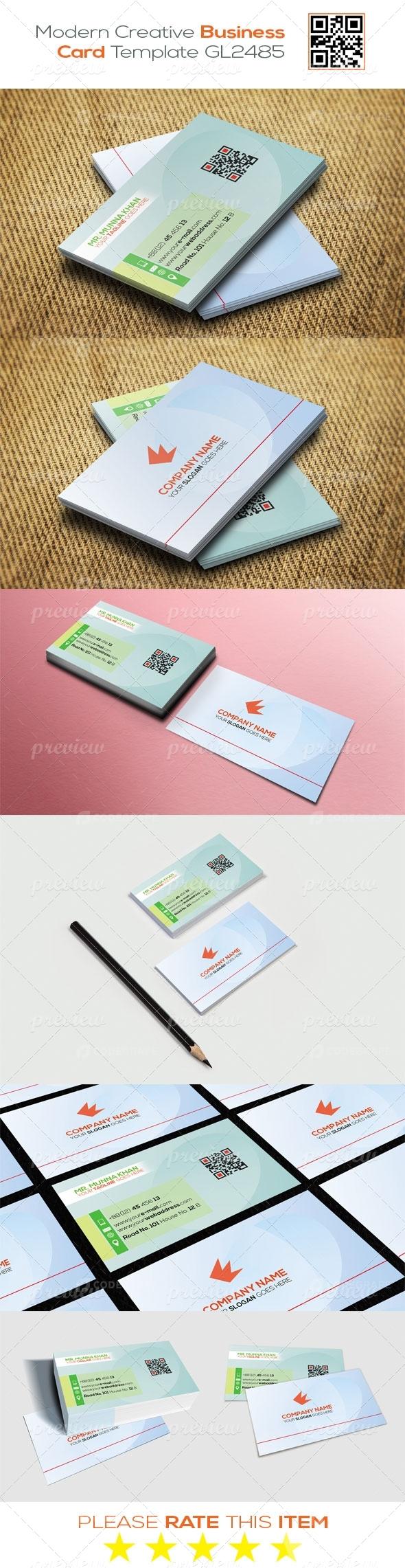 Modern Creative Business Card Template GL2485