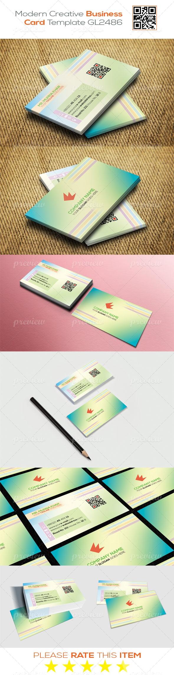 Modern Creative Business Card Template GL2486