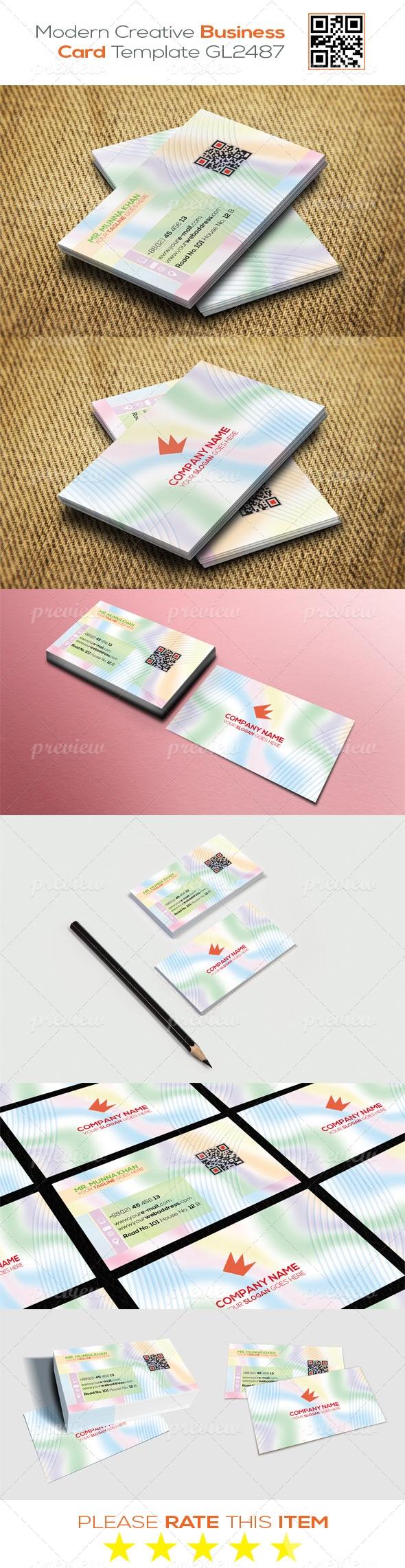 Modern Creative Business Card Template GL2487