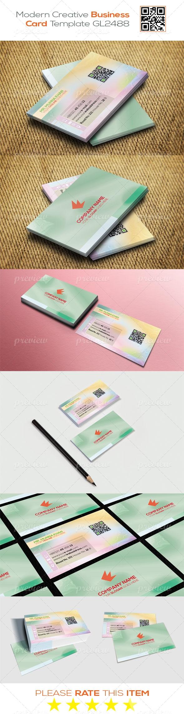 Modern Creative Business Card Template GL2488