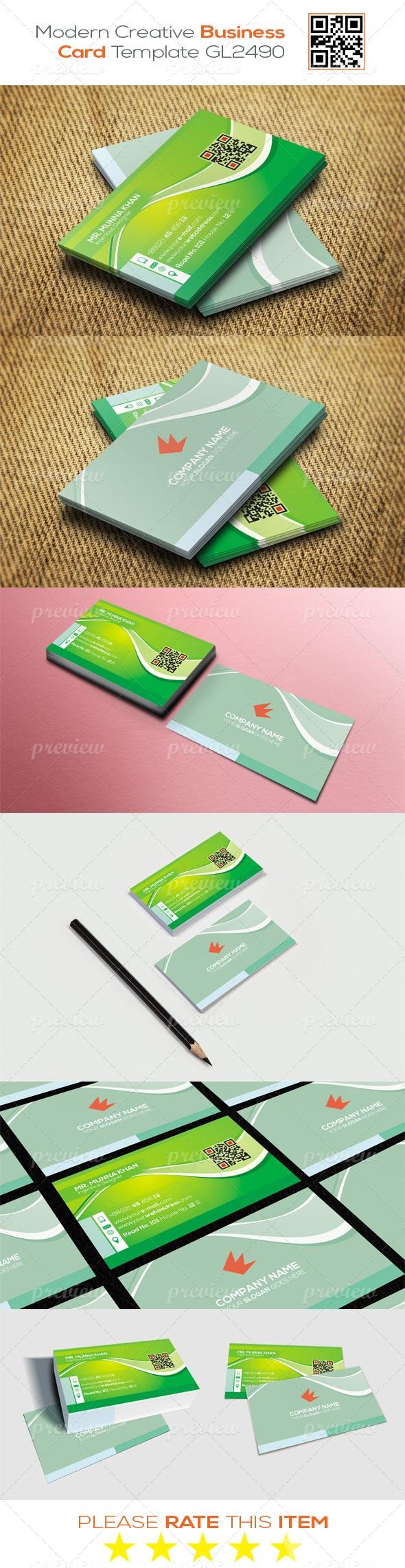 Modern Creative Business Card Template GL2490