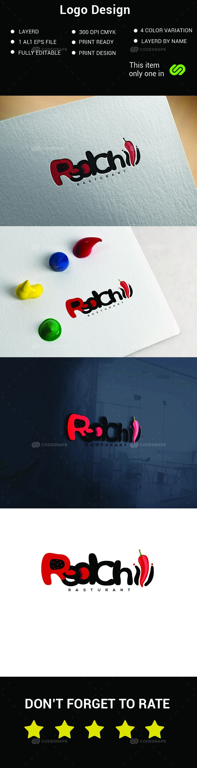 Red Chilis Logo Design