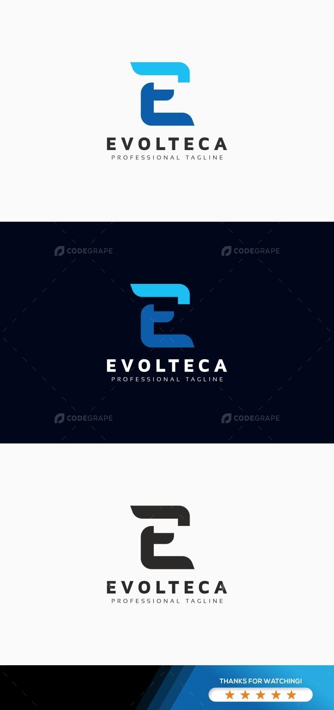 Evolteca E Letter Logo