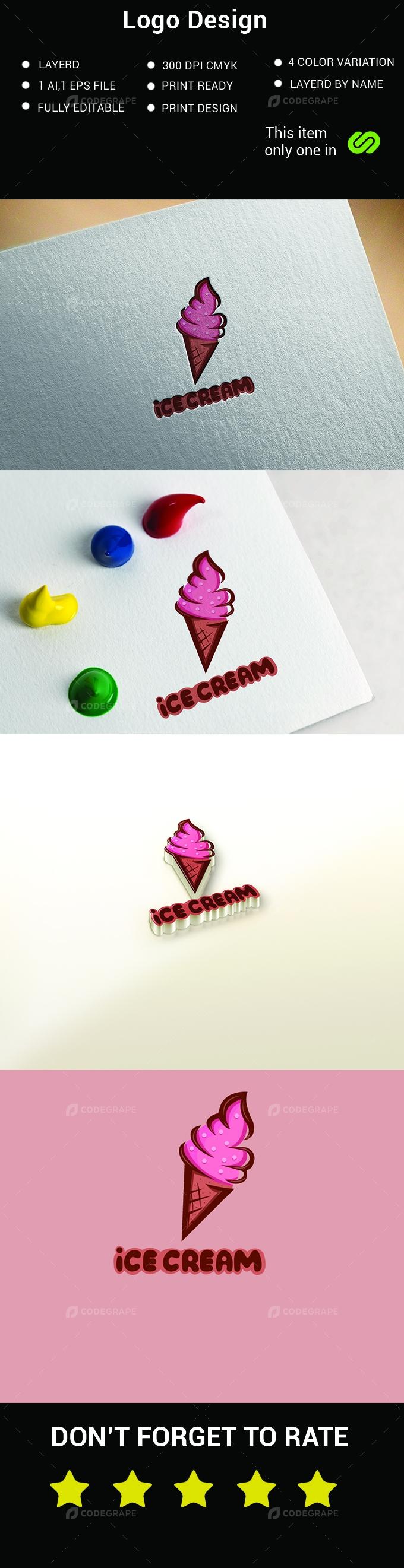 Icecream Logo Design