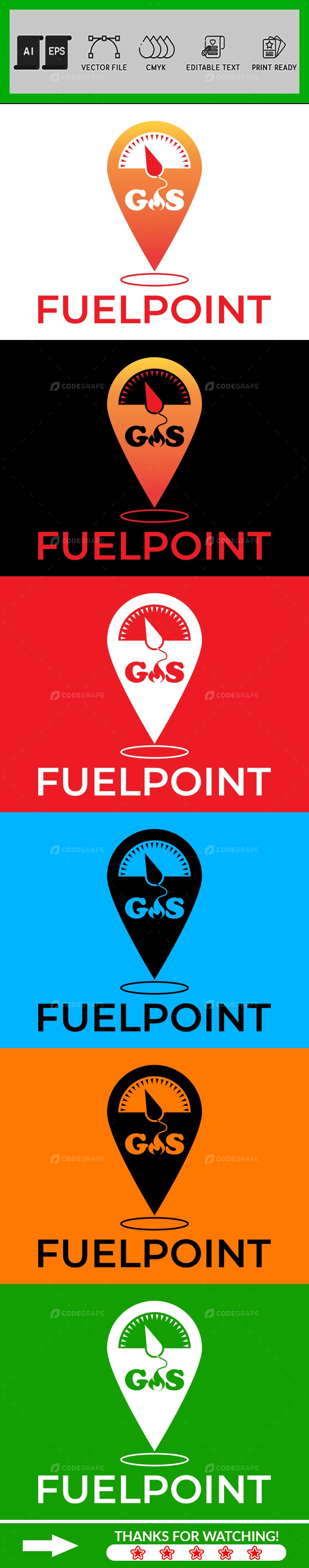 Fuel Point Logo Design Template