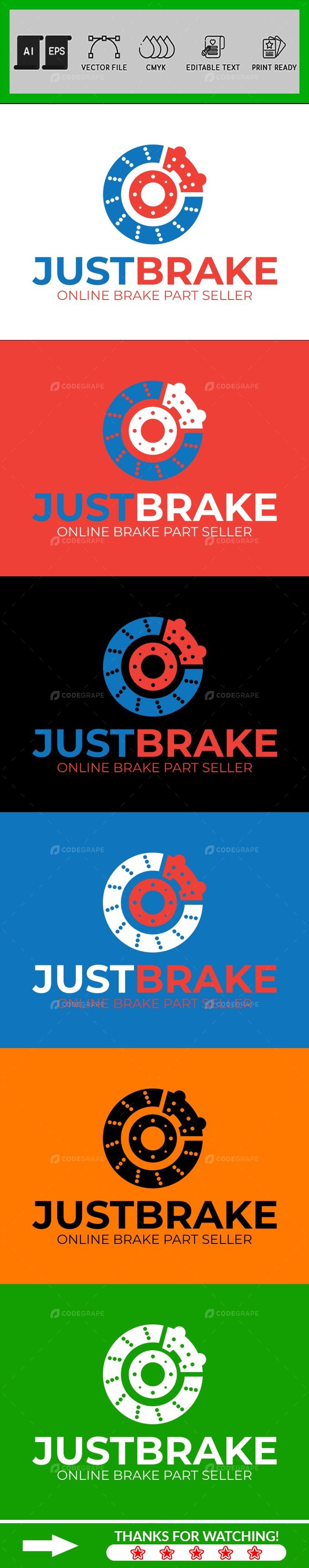 Online Brake Part Seller Logo Design