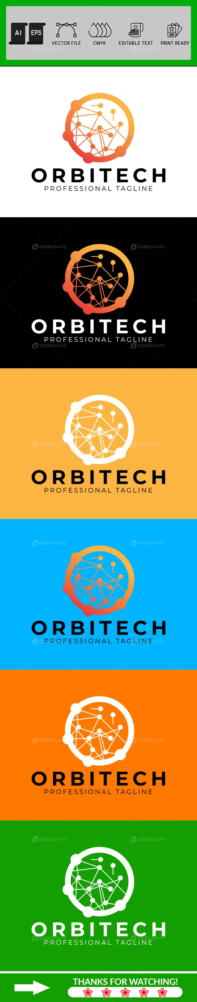 Orbital Abstract Logo Design Template