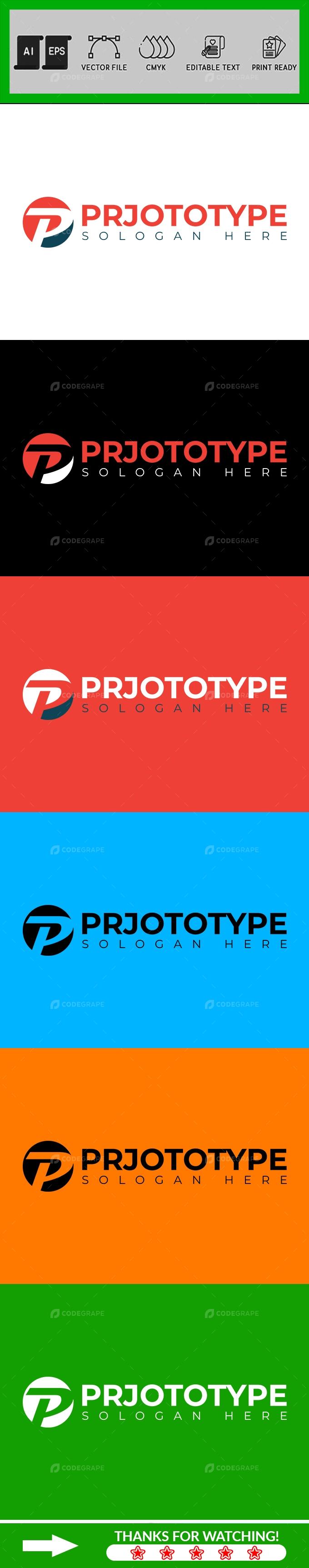P Letter Logo Design Template