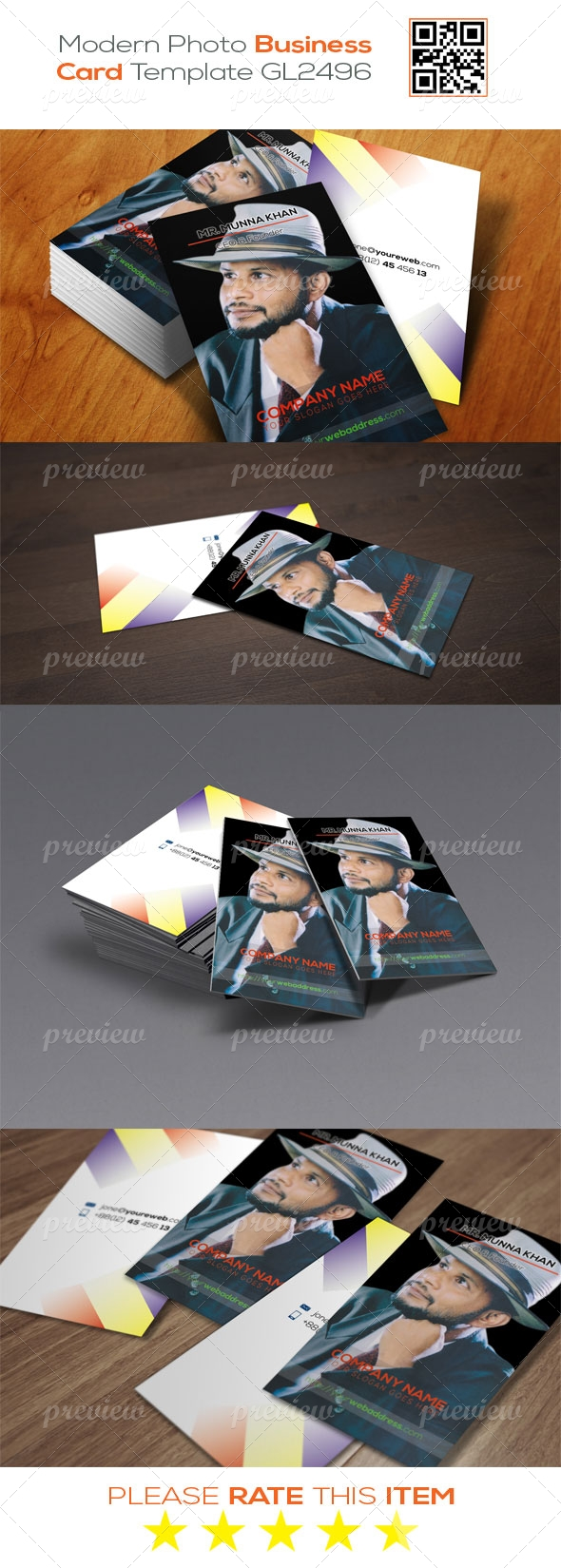 Modern Photo Business Card Template GL2496