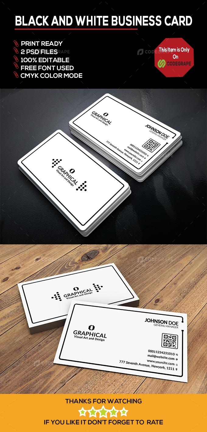 Black & White Business Card