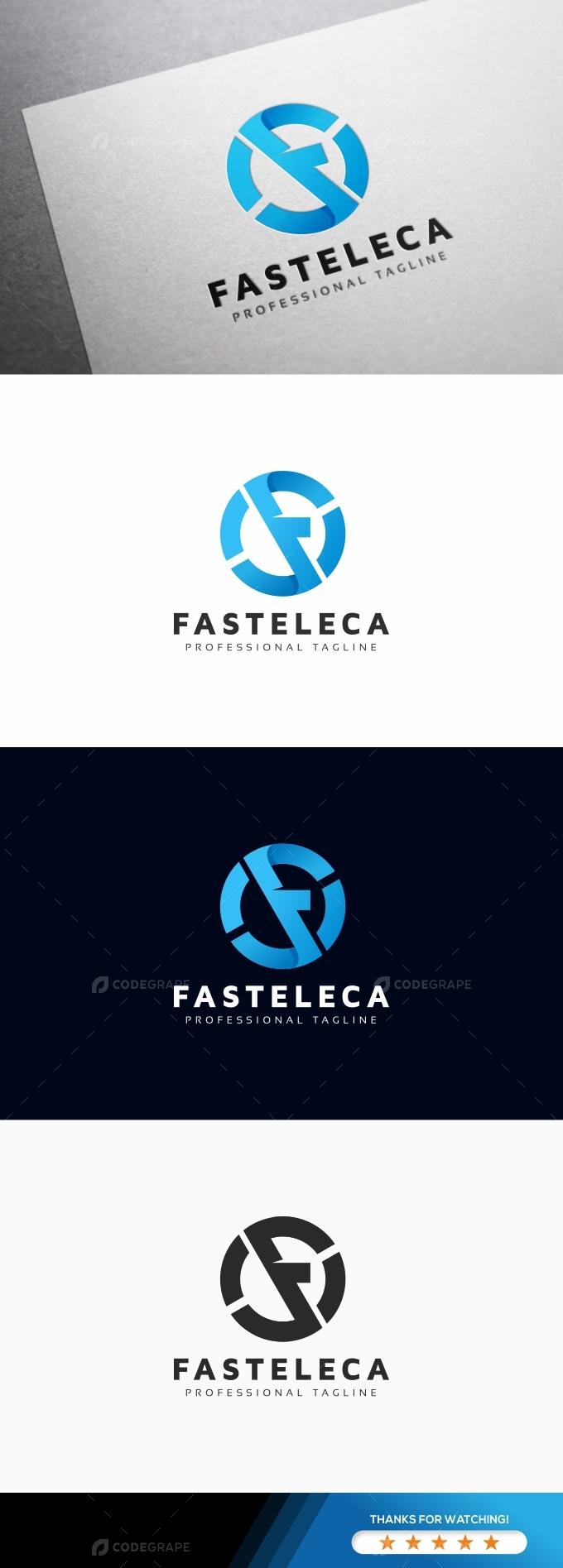 Fasteleca F Letter Logo