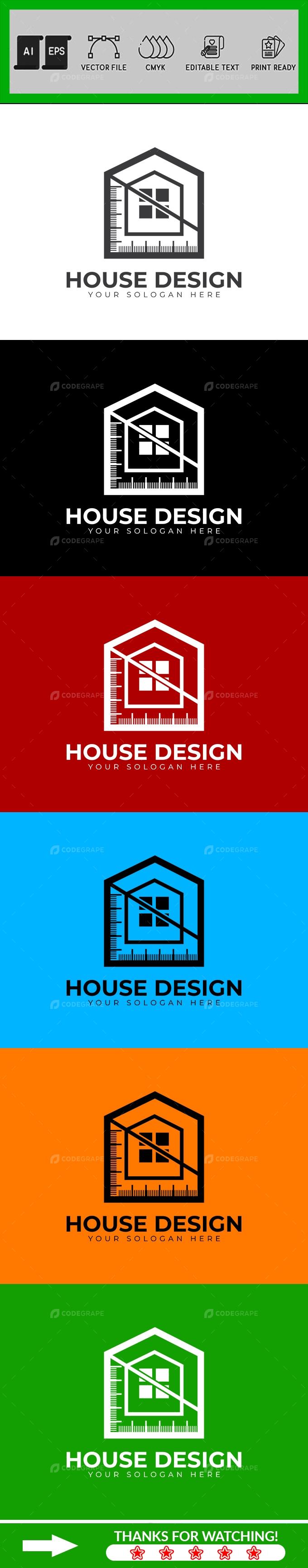House Design  Architecture Logo Design Template