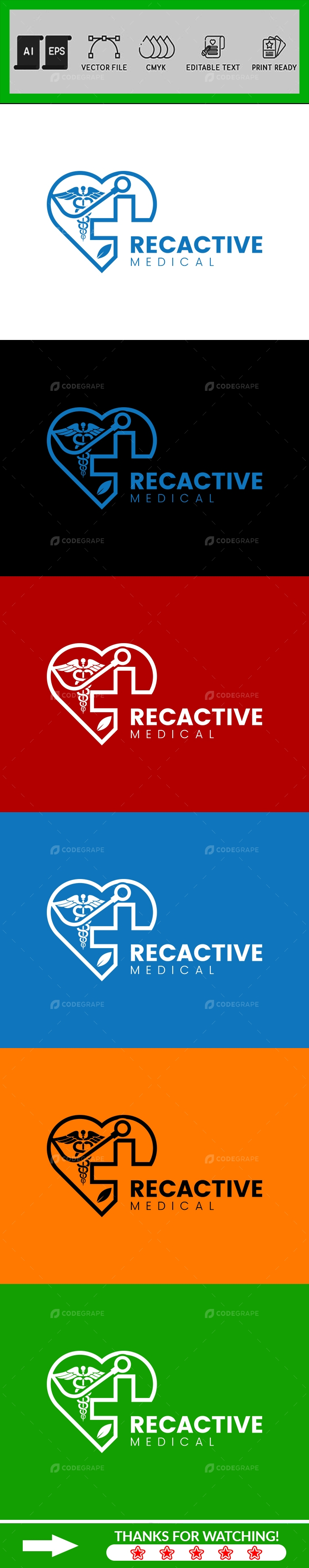 Medical and Science Logo Design Template