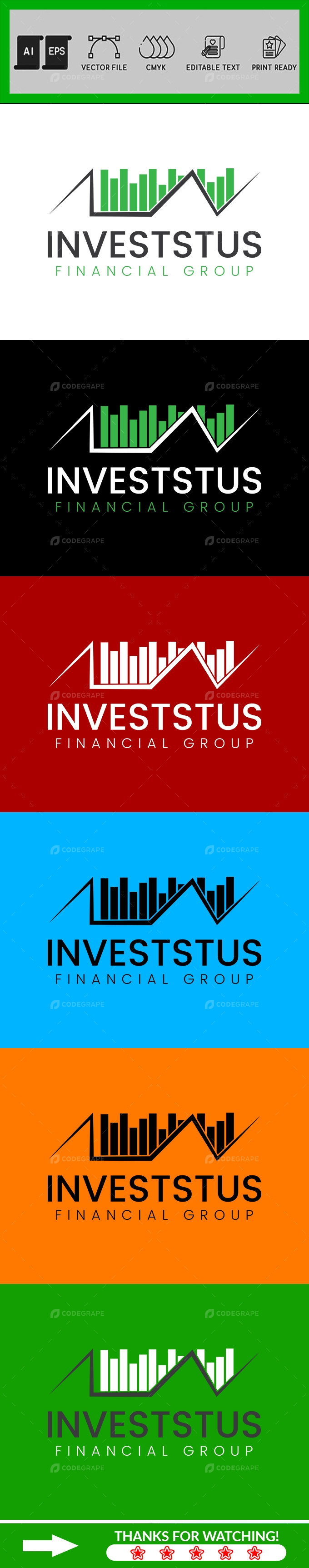 Invest Logo Design Template