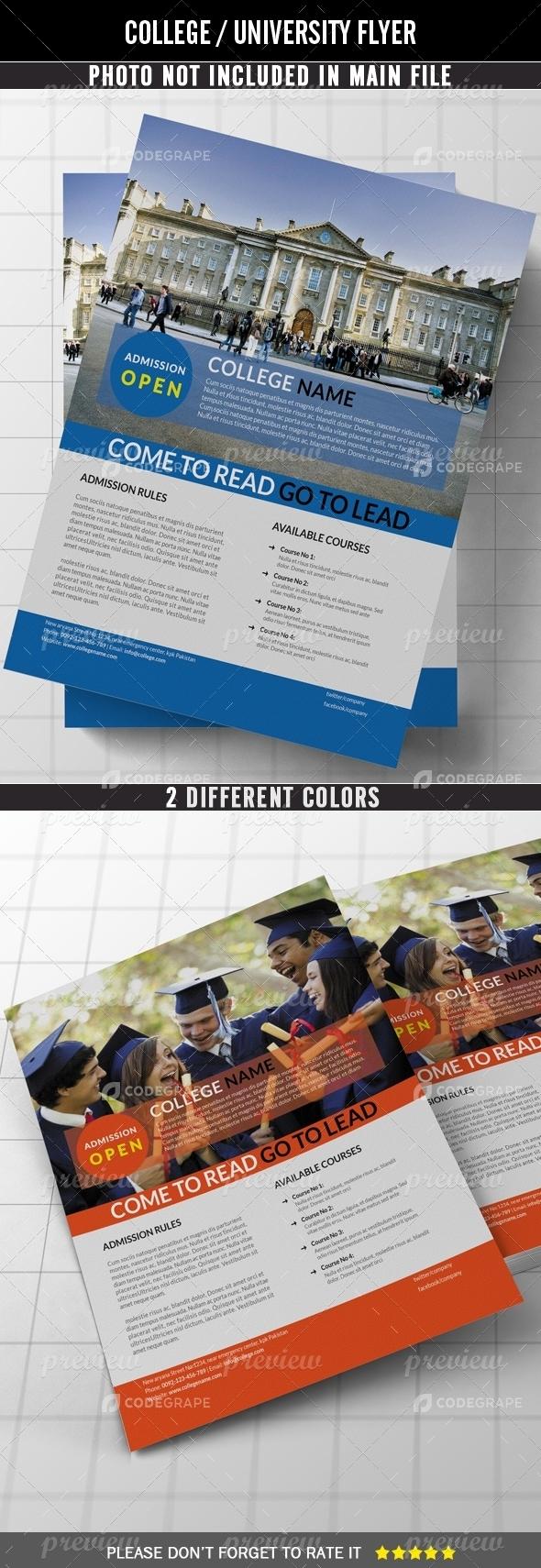 College / University Flyer