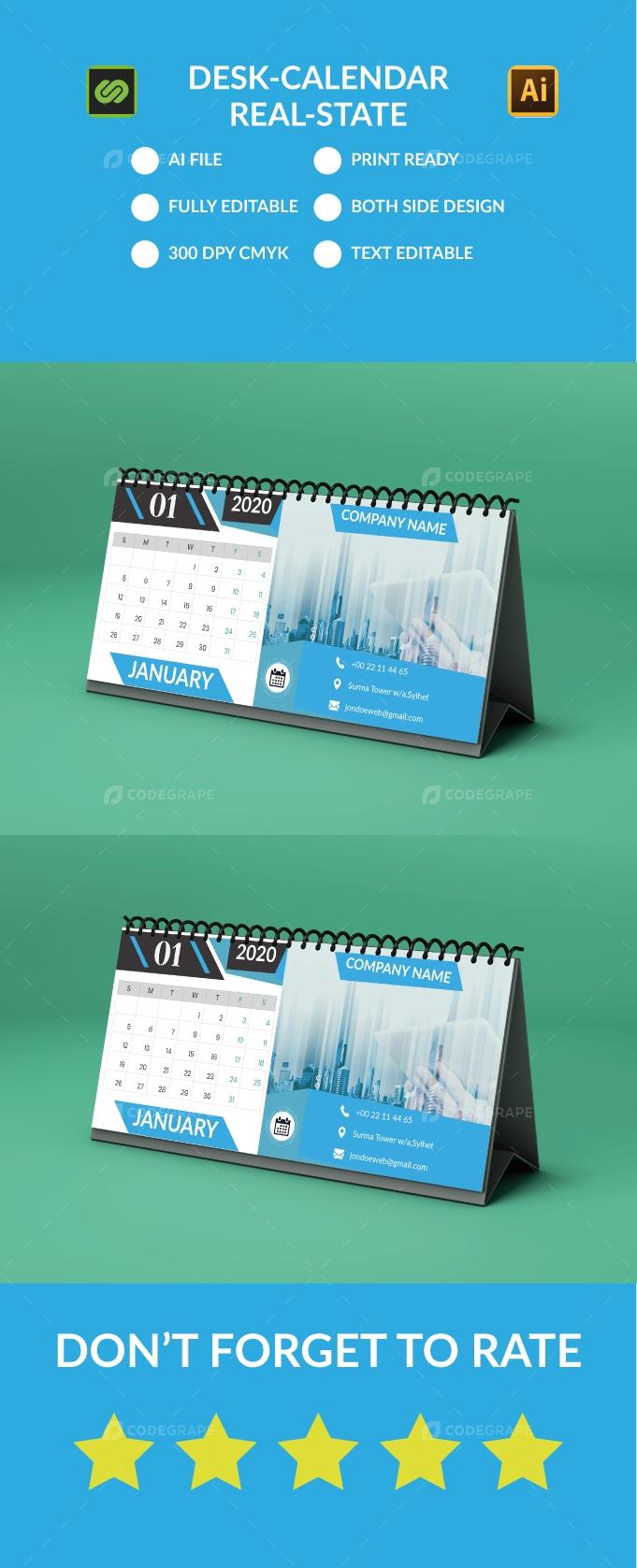 Desk-Calendar 2020