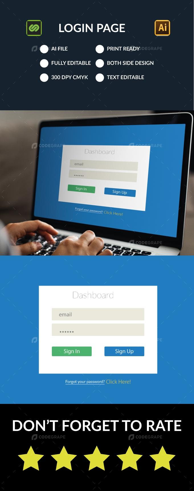 Login Page Desktop v2