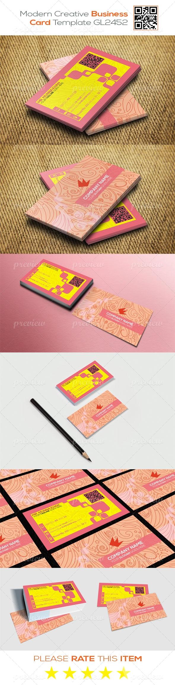 Modern Creative Business Card Template GL2452