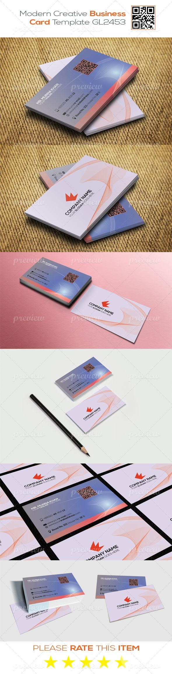 Modern Creative Business Card Template GL2453