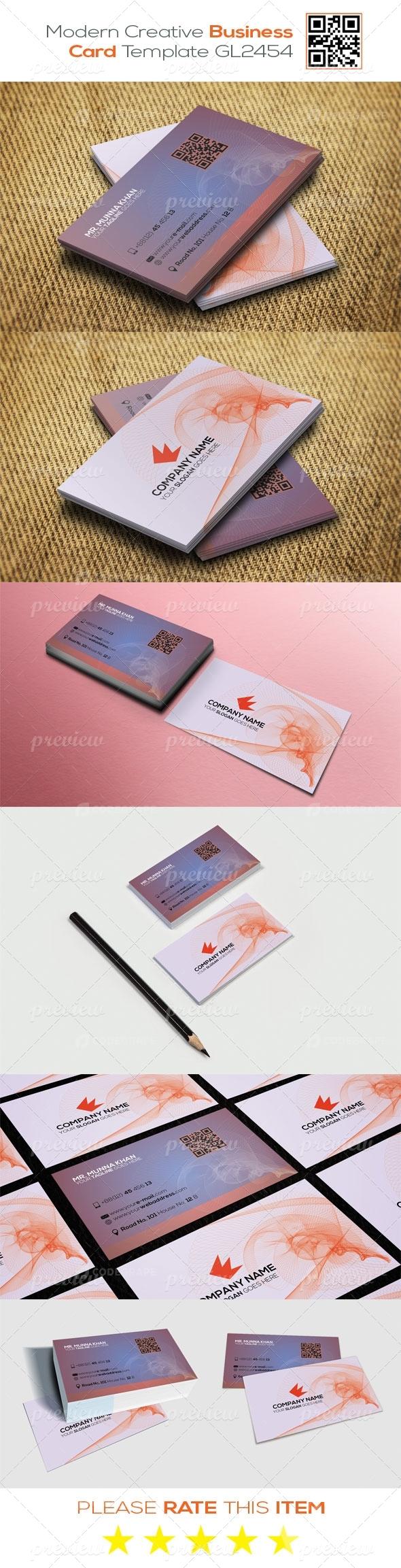 Modern Creative Business Card Template GL2454