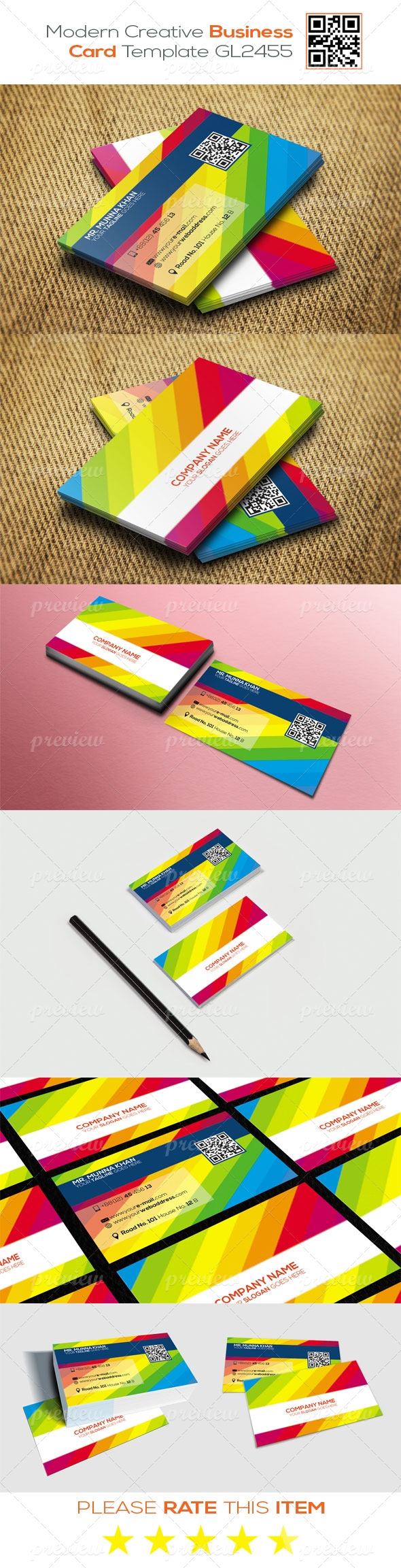 Modern Creative Business Card Template GL2455